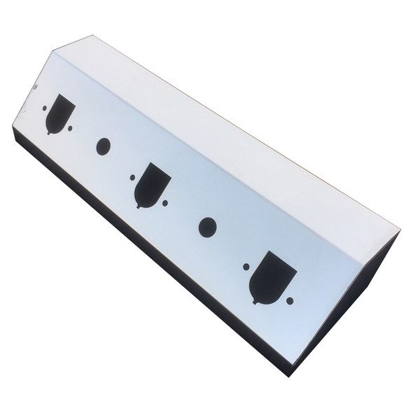 Universal On-Top Airline Box By Iowa Customs Stainless Steel