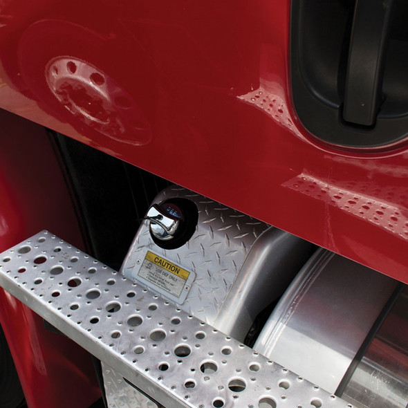 Chrome Freightliner DEF Cap Cover Mounted
