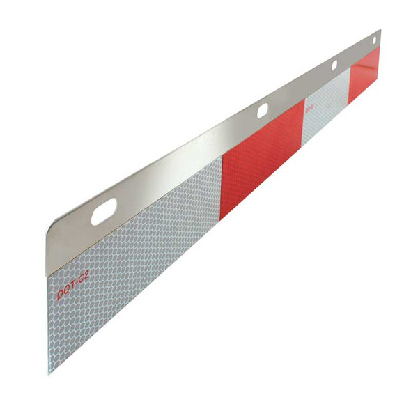 Aluminum Straight Reflector Top Plates With DOT-C2 Conspicuity Tape Angle View