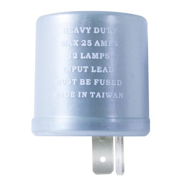 Round 2 Pin LED Flasher 25 Amp Max
