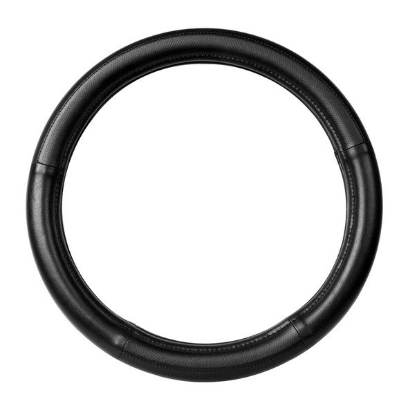 """18"""" Black Steering Wheel Cover With Black Stitching By Grand General"""