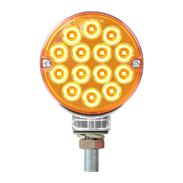 """3"""" Double Face Pearl LED Pedestal Light - Amber"""