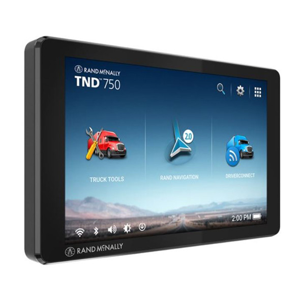 Rand McNally TND750 Truck GPS With Lifetime Map Updates - Front