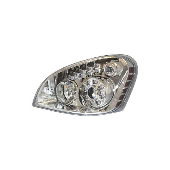 Freightliner Cascadia Projection Headlight Assembly With LED Daytime Park & Signal Lights Driver Side