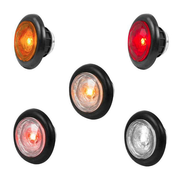 """1"""" Dual Function Diamond Lens LED Marker Light With Rubber Grommet By Grand General"""