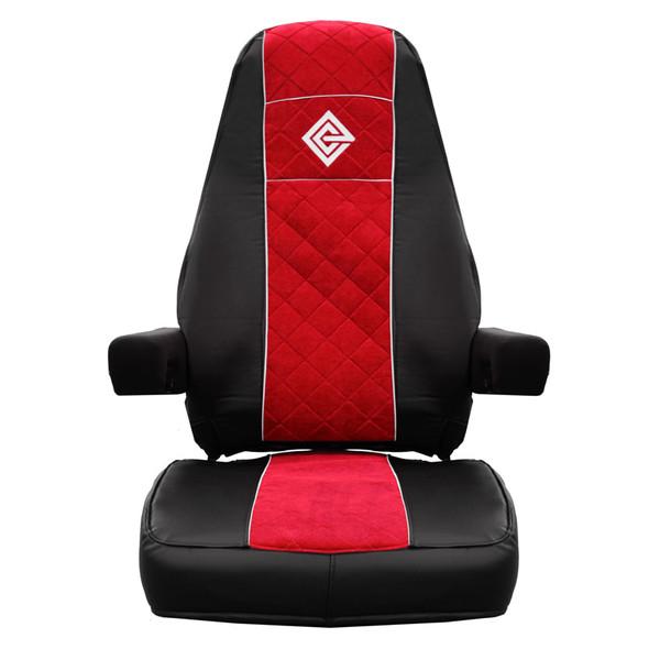 Peterbilt 378 379 386 387 388 389 Premium East Coast Covers Factory Seat Cover - Black & Red
