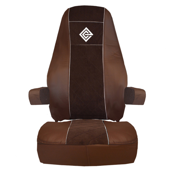 Volvo VNL VNM Premium East Coast Covers Factory Seat Cover - Brown & Brown