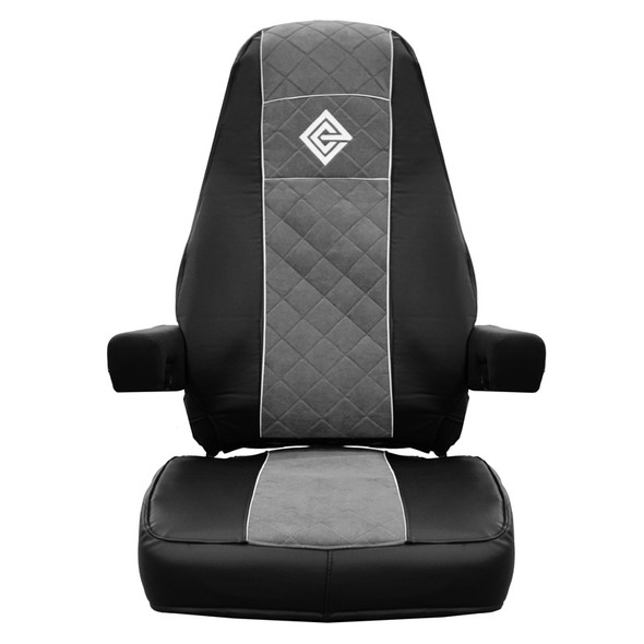 Freightliner Cascadia Premium East Coast Covers Factory Seat Cover - Black & Grey