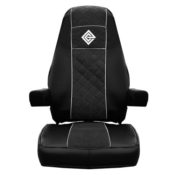 Kenworth T680 Premium East Coast Covers Factory Seat Cover - Black & Black