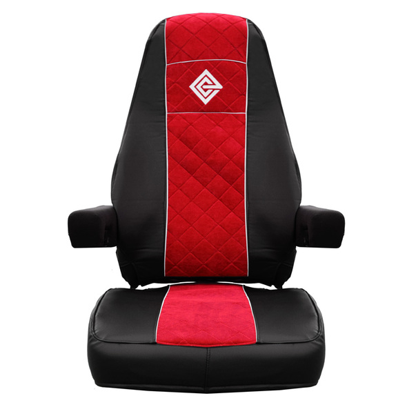Kenworth T680 Premium East Coast Covers Factory Seat Cover - Black & Red