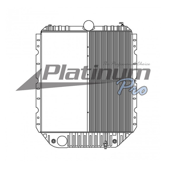 International 4900 Series Radiator With Oil Cooler 1994-2005 Dimensions