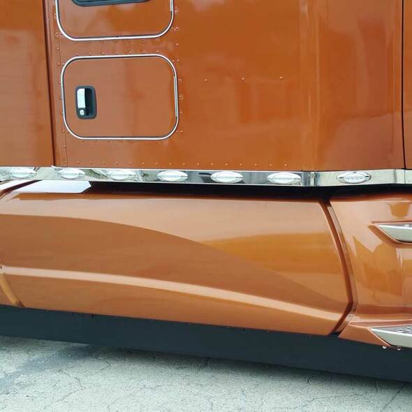 "Kenworth T680 T880 Stainless Steel 76"" Sleeper Panel"