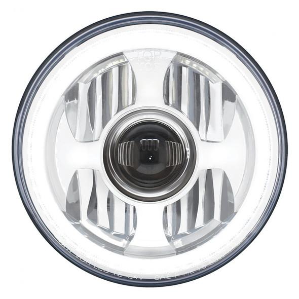 "7"" Round High Power LED Projection Headlight White LED"