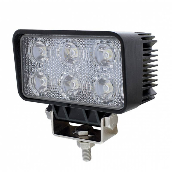 6 LED High Power Rectangular Driving And Work Light Angle View