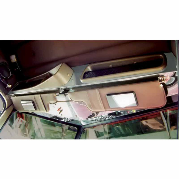 Peterbilt Stainless Steel Headliner & Access Cover Plate Trim By Roadworks Ultra Cab