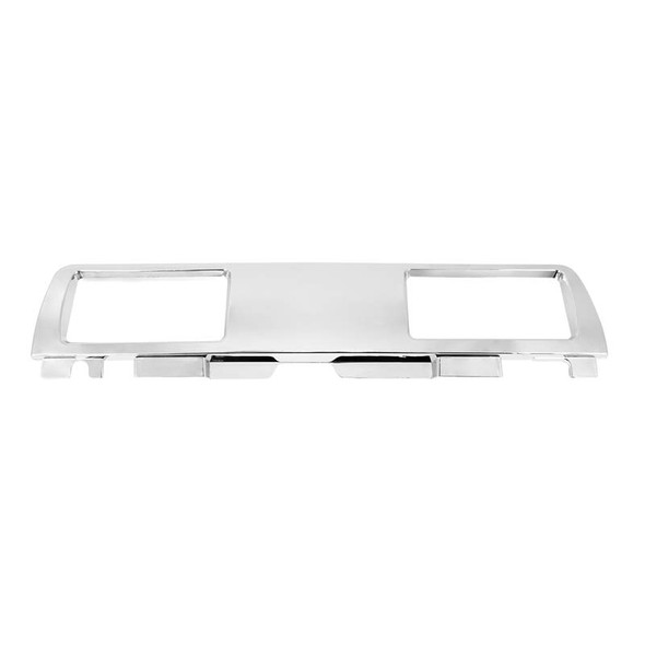 Kenworth T680 Chrome Plastic Upper Glove Box AC Vent Trim By Grand General Front View