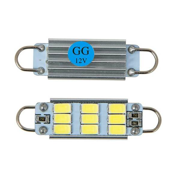 Interior 9 Diode Dome Type LED Bulbs By Grand General Blue