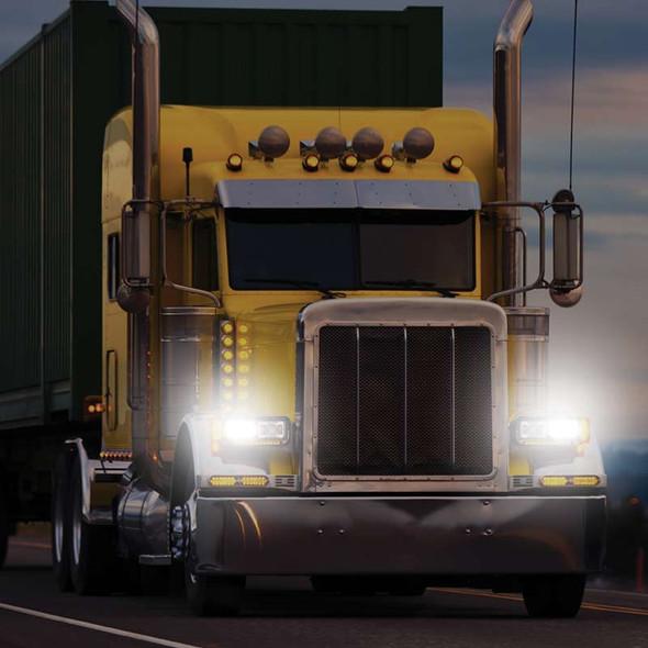 """JW Speaker 6"""" x 4"""" LED Evolution 2 Headlight Model 8800 On Truck"""