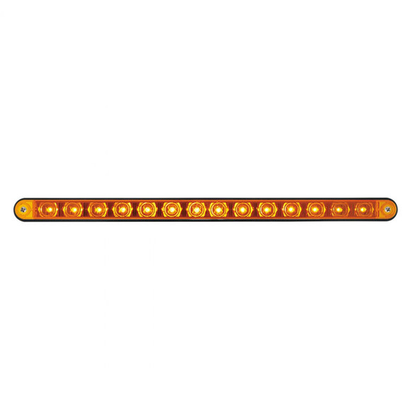 "14 LED 12"" Light Bar With Black Housing - Amber/Amber"