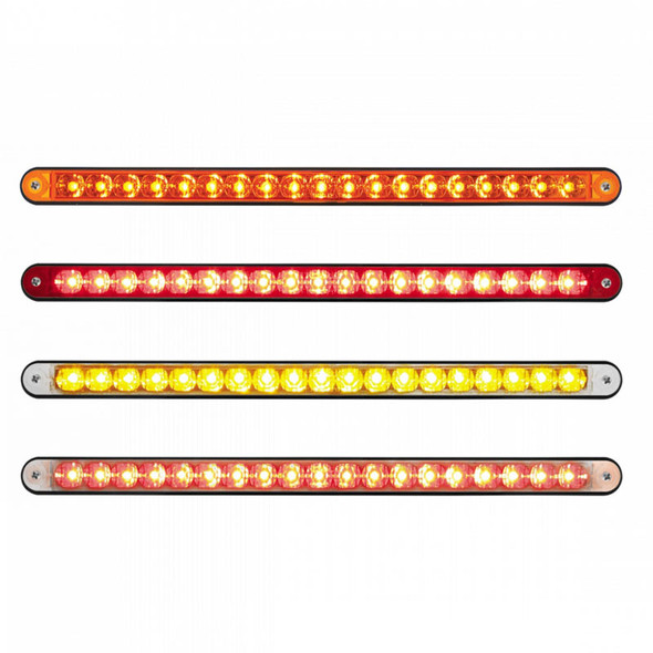 """19 LED 12"""" Reflector Light Bar With Black Housing - Styles"""