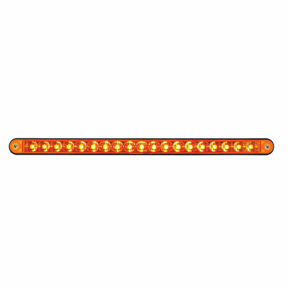 "19 LED 12"" Reflector Light Bar With Black Housing - Amber/Amber"