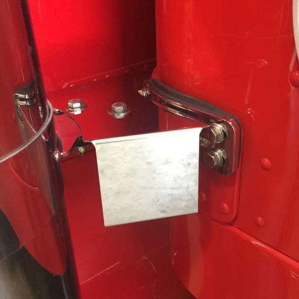 Peterbilt Stainless Steel IFTA Permit Holders By Iowa Customs On Truck