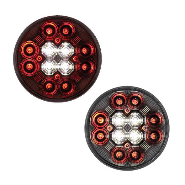 """4"""" Round STT And Back-Up Combo LED Light On"""