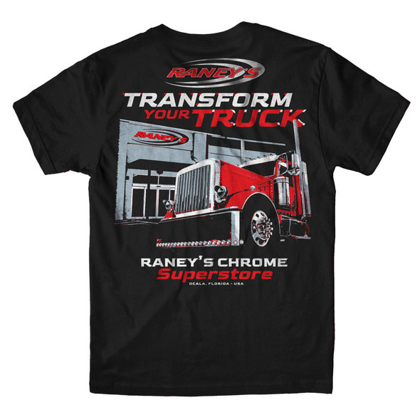 Raney's Transform Your Truck T Shirt Back