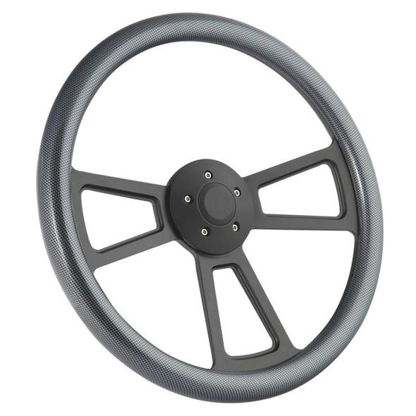 "Half Wrap Steering Wheel 18"" Carbon Fiber"