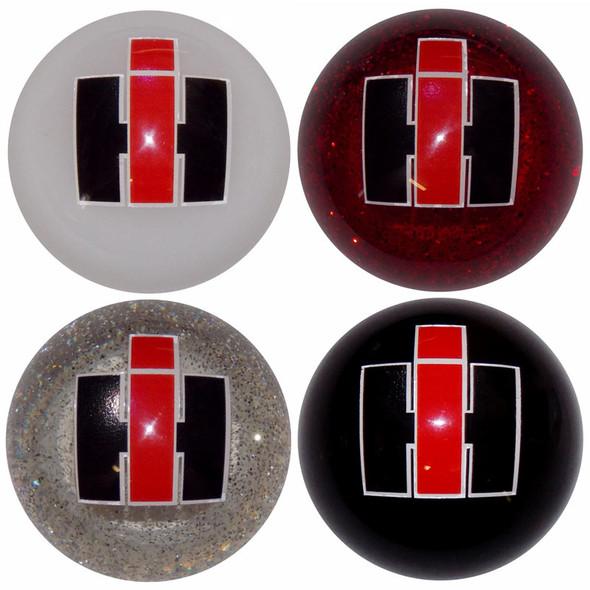 International Harvester Shift Knob Kit - Black, White, Red Glitter, Clear Glitter