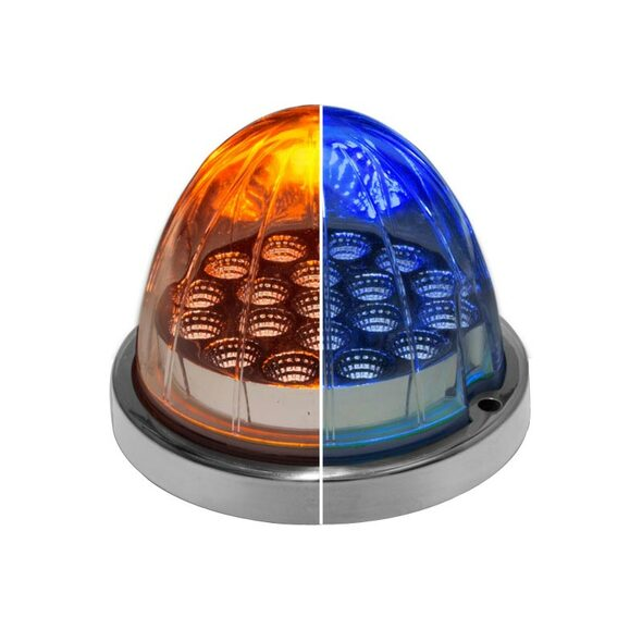 Dual Revolution LED Turn Signal And Marker Light Amber and Blue