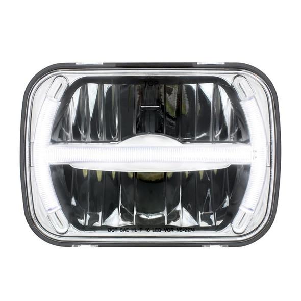"5"" x 7"" LED Rectangular Light High And Low Beam with LED Light Bar"