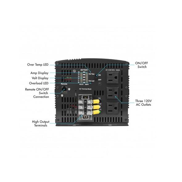 AC Power Inverter 5000 Watt Proline Terminal Front