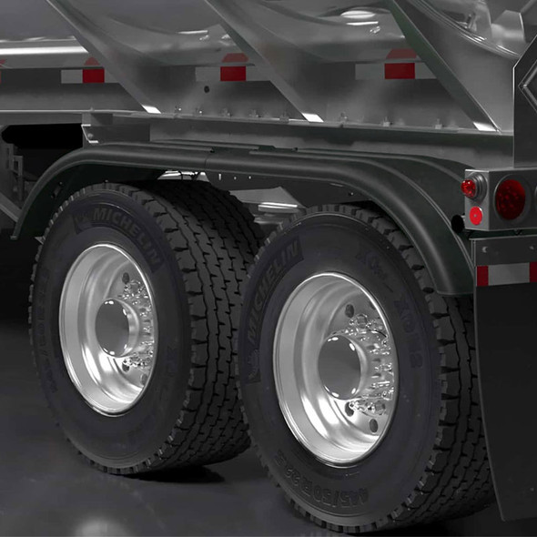 Minimizer TR4020 Series Poly Super Single Tractor Tandem Fenders Black - On Truck