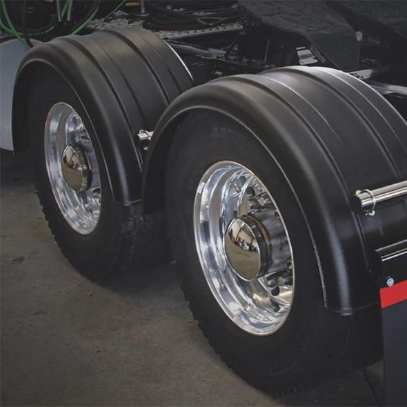 Minimizer 2220 Series Truck Black Poly Super Single Fenders On Truck