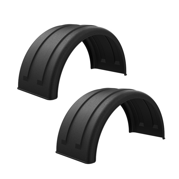 """Minimizer 2220 Series Black Poly Super Single Truck Fenders For 22.5"""" Or 24.5"""" Wheels"""