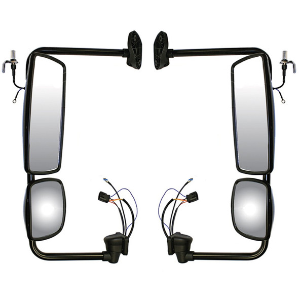 Freightliner M2 Exterior Electrical Mirror Assembly Both Sides Black Finish
