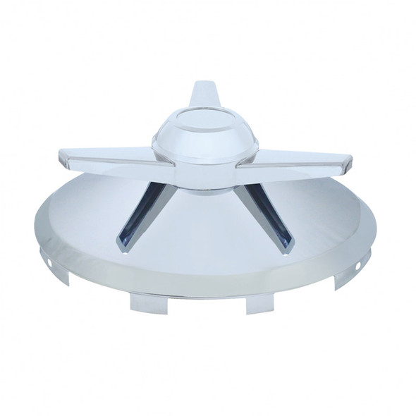 Universal Front Hub Cap Chrome With 3 Bar Spinner - Large Spinner