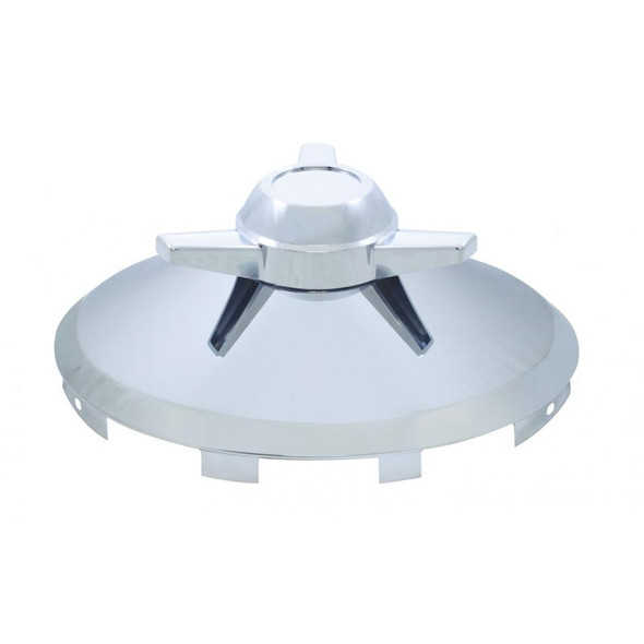Universal Front Hub Cap Chrome With 3 Bar Spinner - Small Spinner