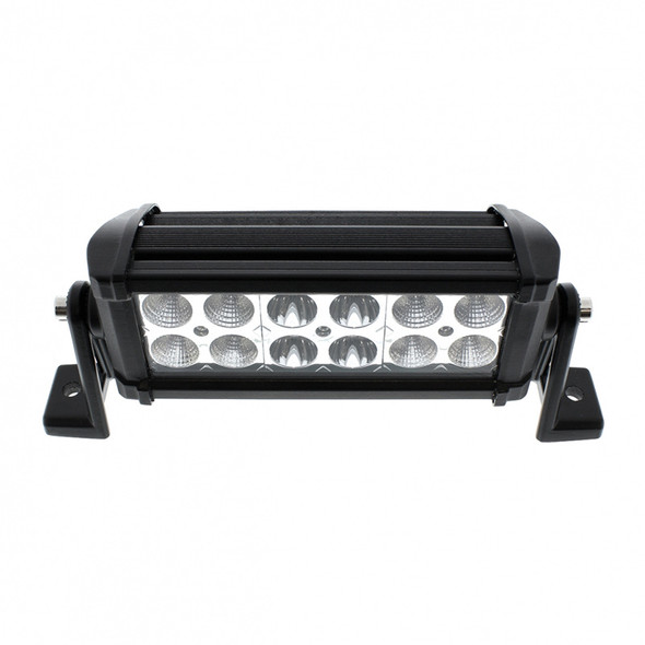 """12 High Power LED 7"""" Competition Series Combo Light Bar Top View"""