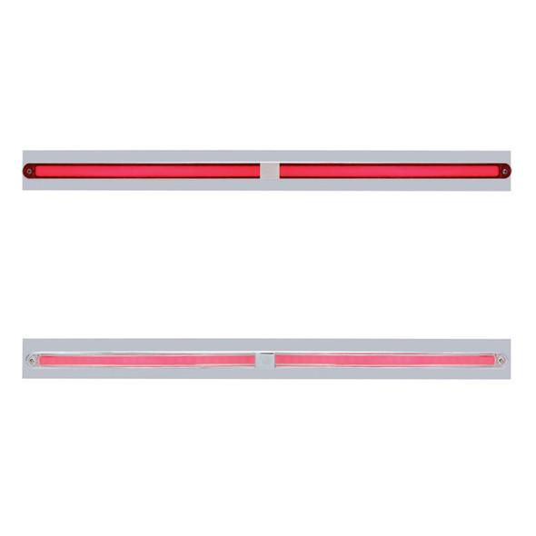 "Chrome Top Mud Flap Light Bracket with Two 12"" LED GLO Light Bar"
