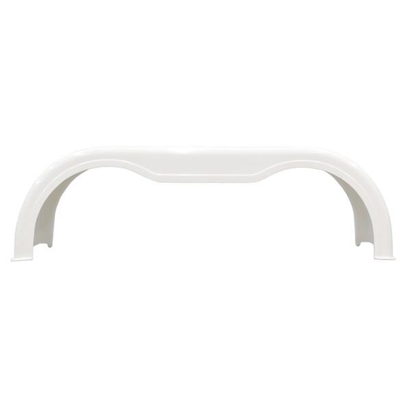 Fiberglass Full Tandem Fender Set White - Side View