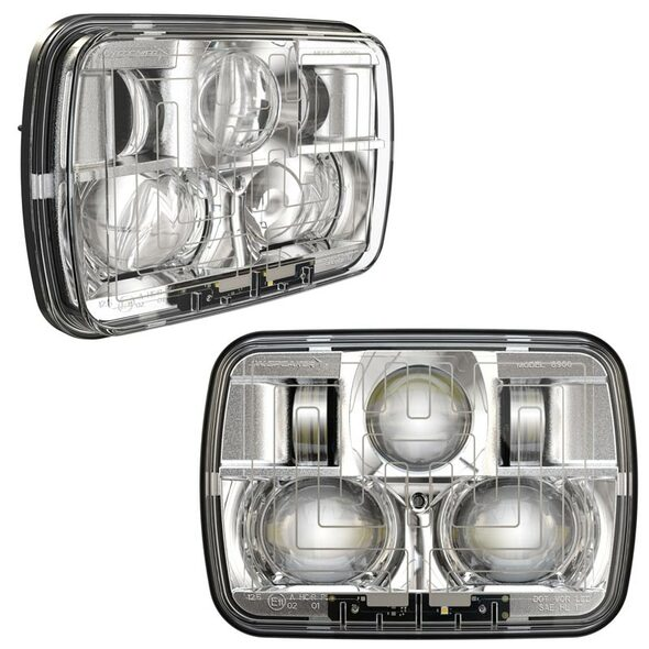 "5"" x 7"" Chrome High And Low Beam Headlight"