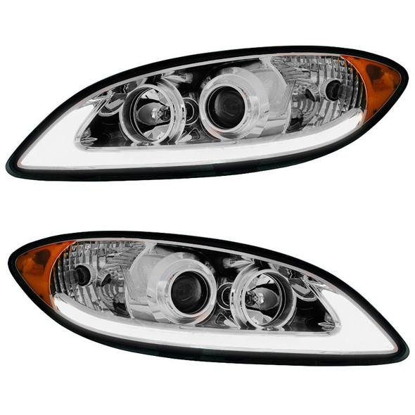International ProStar Projector Headlight with LED Light Bar Both Lights