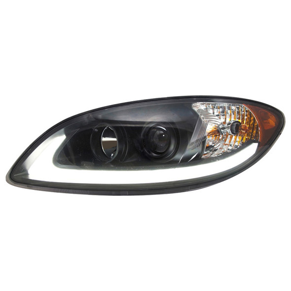 International ProStar Blackout Projector Headlight with LED Light Bar Driver Side