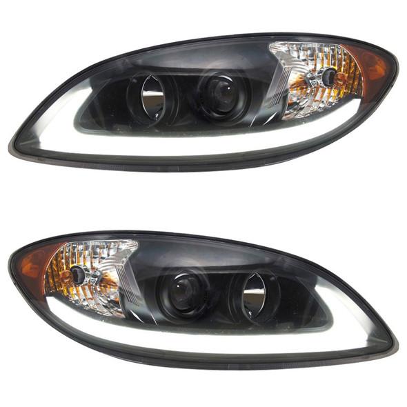 International ProStar Blackout Projector Headlight with LED Light Bar Both Sides