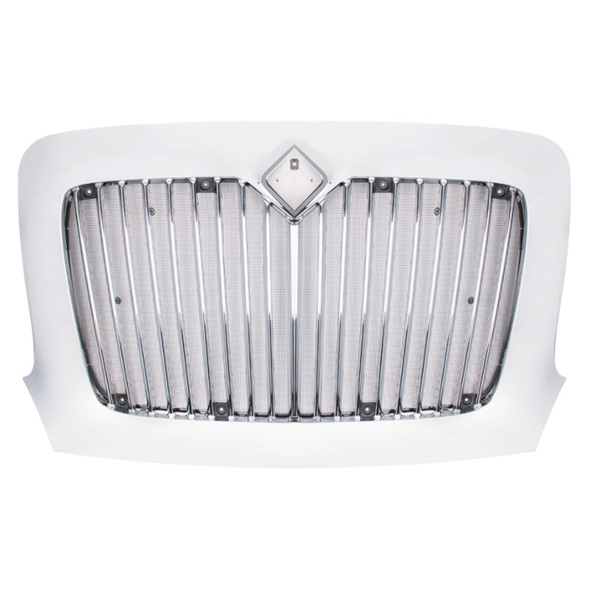 International Transtar Chrome Grille With Bug Screen Included Front View