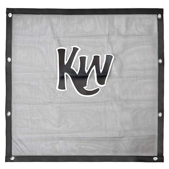 Kenworth W900L Black Bug Screen With Black KW Logo Front