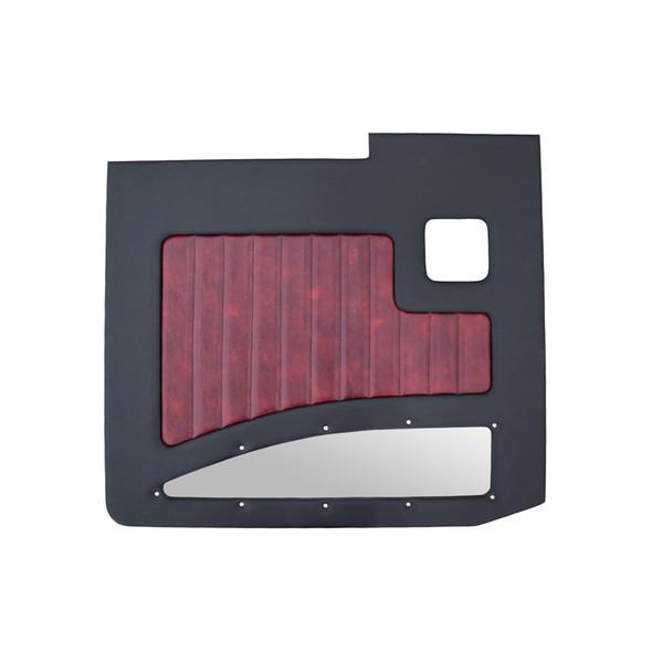 Kenworth W900A W900B 1964-2018 Street Rod Style Door Panel Black/Oxblood Driver Side
