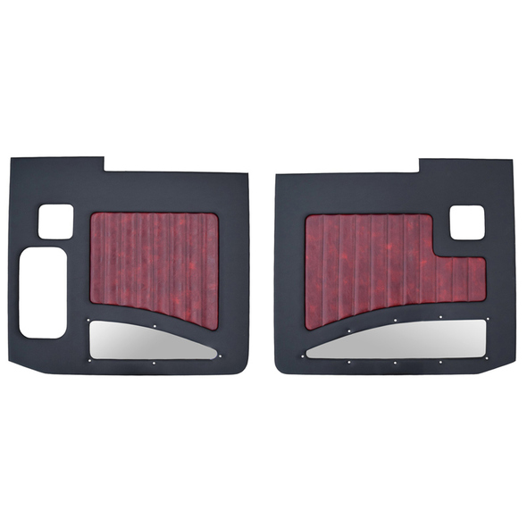 Kenworth W900A W900B 1964-2018 Street Rod Style Door Panel Black/Oxblood
